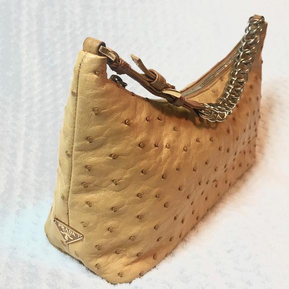 3f381e727234 Prada Bags   100 Authentic Ostrich Handbag   Poshmark